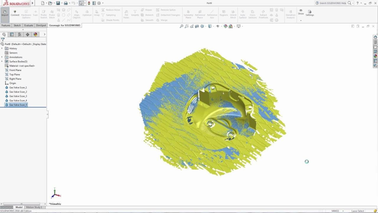 Geomagic scan-to-SOLIDWORKS software
