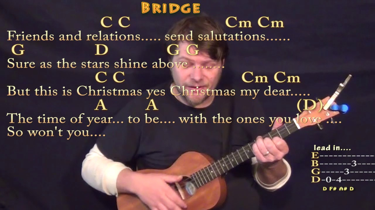 Please Come Home For Christmas (Eagles) Bariuke Cover Lesson in G ...