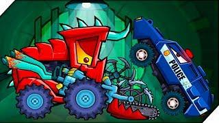 СУПЕР КОМБАЙН ПРОТИВ ПОЛИЦИИ - Игра Car Eats Car 3 Хищные машинки # 8 Игра про машинки, гонки.