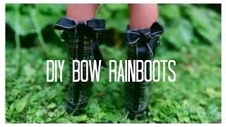 DIY Bow Back Rain Boots