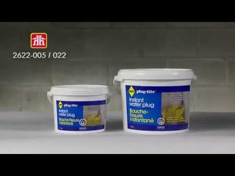 How To Use Quikrete Hydraulic Water Stop Cement The Home Depot