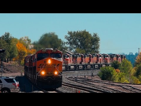 Thumbnail: {HD-60FPS} INSANE 28 Unit BNSF Power Move in Flagstaff Arizona and Other Trains...