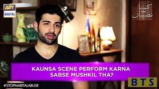 Actor #MuneebButt talks about his favorite scene and the most difficult - Kaisa Hai Naseeban