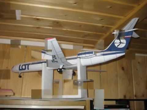 Papercraft Il-62 LOT Maly Modelarz paper model