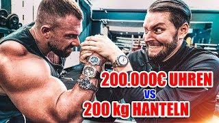 200.000€ Uhren vs 200KG Gewichte: Training mit Kevin Wolter 💪