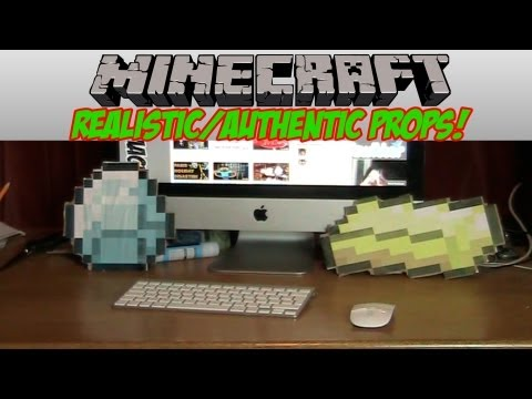 Minecraft - How to make Realistic/Authentic Minecraft props *HD* *EASY*