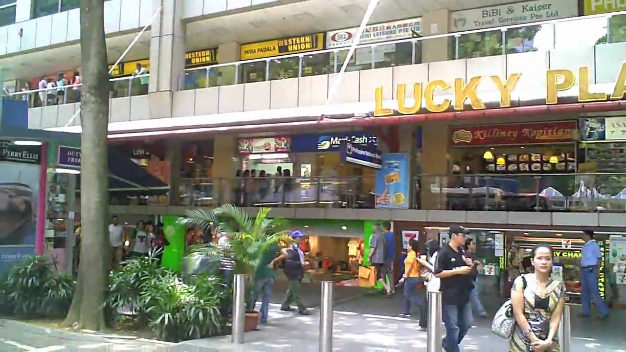 Singapore Video Lucky Plaza Shopping Mall  YouTube
