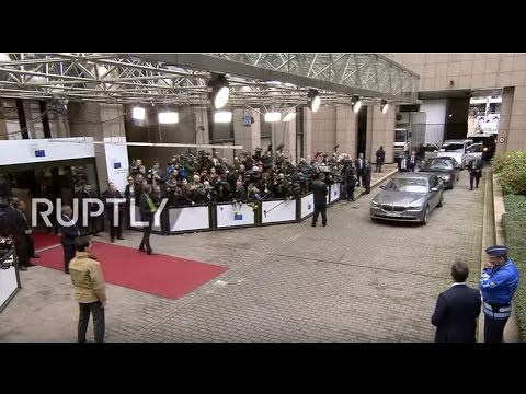 LIVE: EU leaders arrive at European Council summit