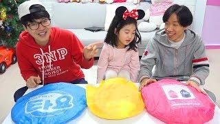 보람이와 코난의 상어가족 초콜릿 먹으면서 이름 맞추기 놀이 Boram and Baby Shark New Lollipops