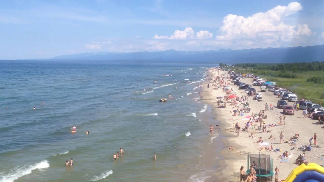 Байкал пляж Выдрино купальный сезон начался