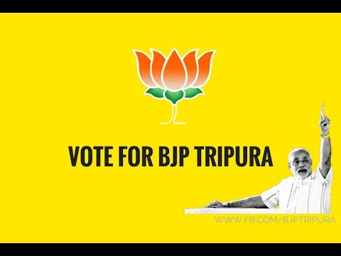For a Good and Developing Tripura,Vote for BJP Tripura.