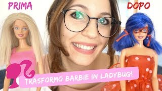 TRASFORMO BARBIE IN LADYBUG ELEGANTE *DIY miraculous*