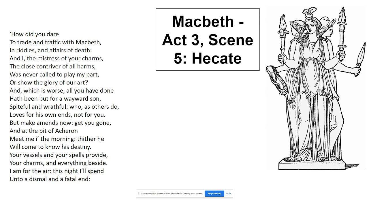 Macbeth Act 3 Scene 5 Hecate Brief Explanation Analysi Youtube 1