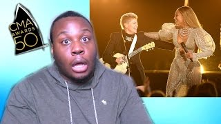 beyonce cma 2016 reaction