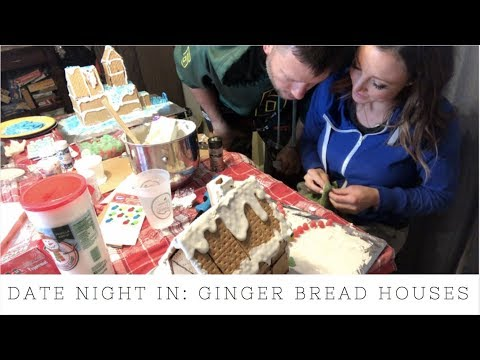 Date Night In | Building Ginger Bread Houses