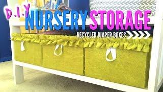 Storage IDEA! | Recycled Diaper Boxes DIY | Nursery Decor