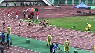 104全大運一般女子組100公尺跨欄決賽-台灣大學-莊漢琳