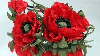 Сделать Подарок Маме Бабушке своими руками Цветы из фома Маки Красивые Поделки своими руками