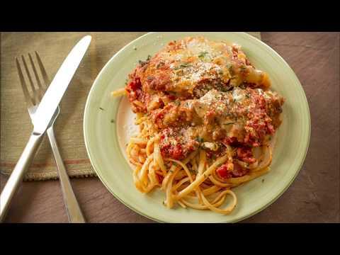 recette-:-poulet-pané-au-parmesan,-sauce-tomate-poivron