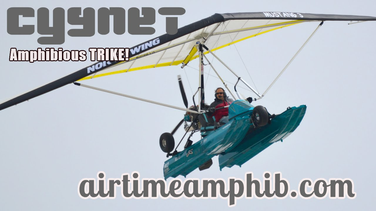 Cygnet amphibious light sport aircraft trike from airtime aircraft youtube