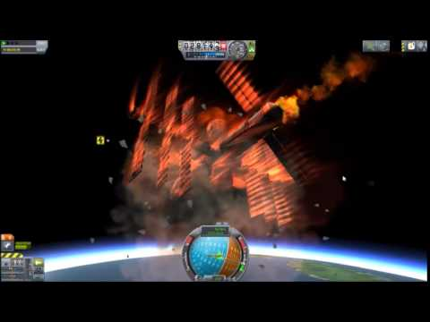 Kerbal Space Program - Space station reentry (with Deadly ...