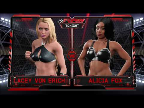 WWE 2K17 Lacey Von Erich VS Alicia Fox In A 1 On 1 Simulated Match