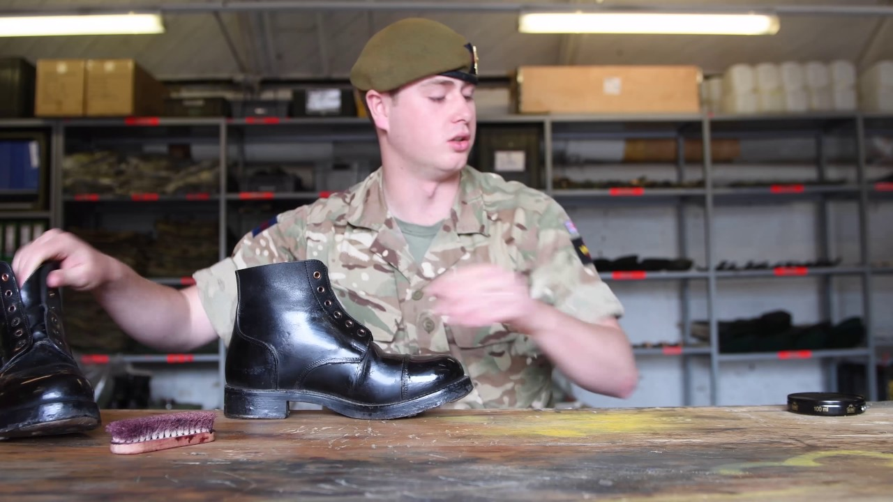 How To Polishing Boots British Army