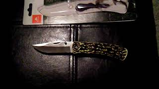 Stag finish clip knife