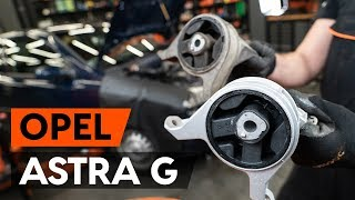 How to replace Motor mount on OPEL ASTRA G Hatchback (F48_, F08_) - video tutorial
