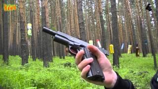 Gletcher CLT 1911 Показательная стрельба. Лесной тир. Colt 1911