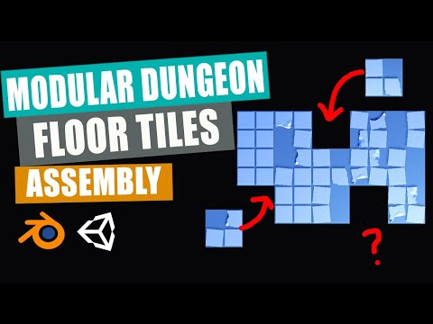 Blender to Unity   Low Poly Modular Dungeon   Part 4   Floor Tiles Assembly