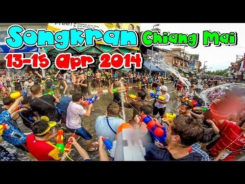 Songkran  Chiang Mai  13-15 Apr 2014 สงกรานต์ เชียงใหม่ 2557