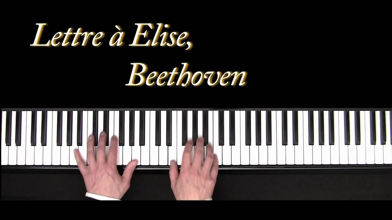lettre a elise Lettre à Elise   Beethoven   piano   Für Elise   YouTube lettre a elise