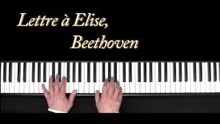 Lettre à Elise - Beethoven - piano - Für Elise - Stafaband