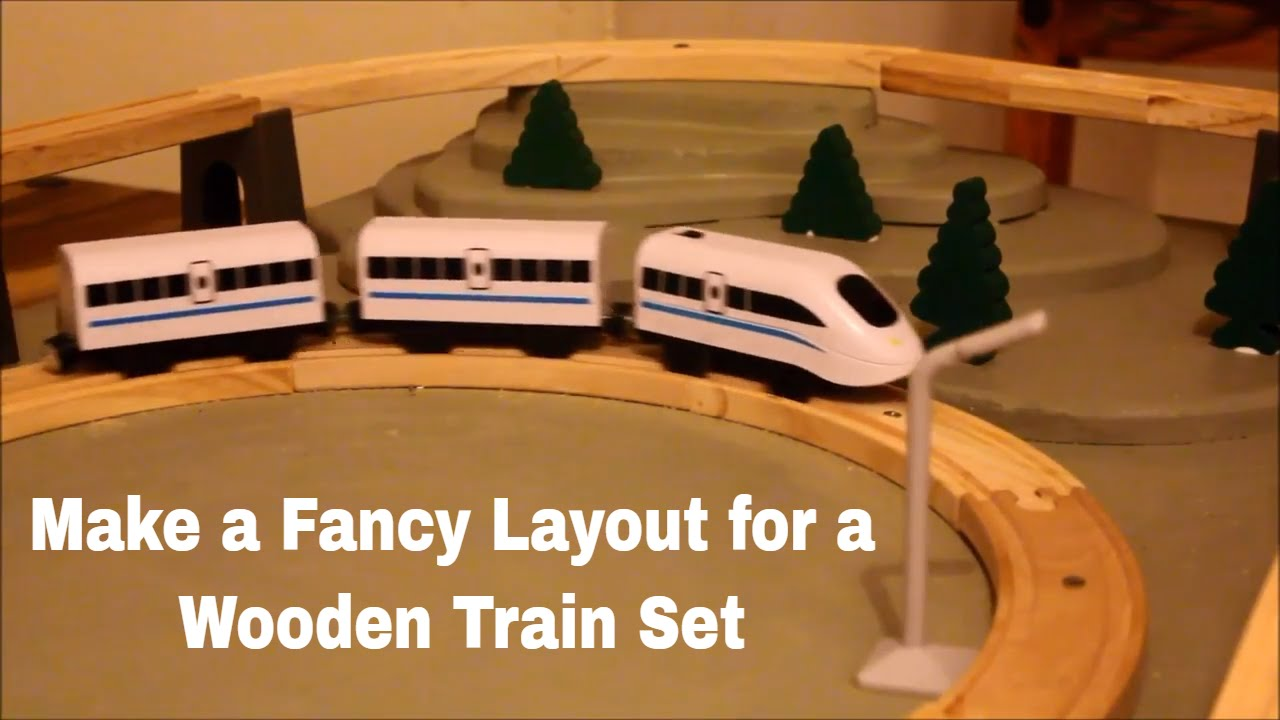 Making A Fancy Layout For A Wooden Train Set