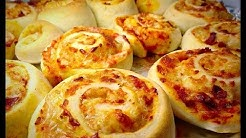 PIZZA BUNS RECIPE / PIZZA ROLLS by (HUMA IN THE KITCHEN)