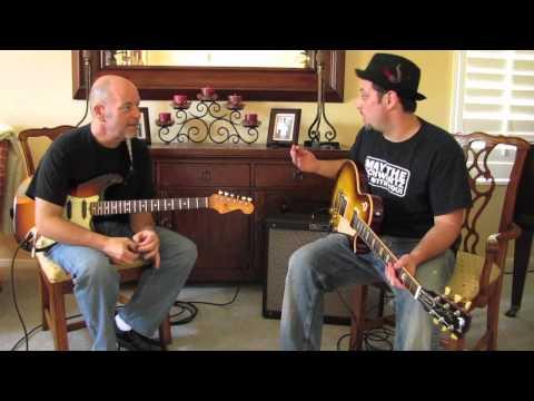 Blues Guitar Lessons - 2 finger blues rhythm - comping - fender strat - gibson les paul