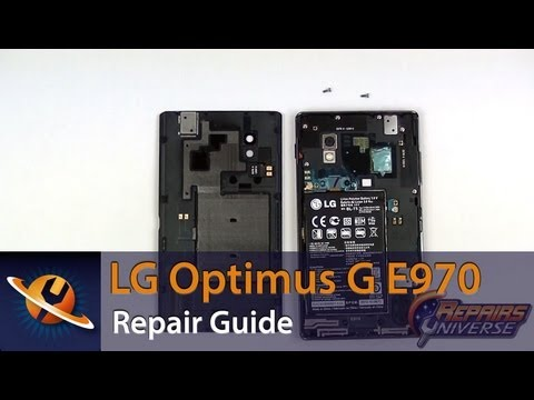LG Optimus G E970 Screen Replacement Repair Guide