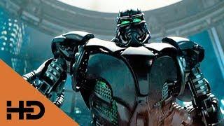 АТОМ Против ЗЕВСА.Начало Боя. 👁️🗨️ Живая сталь (2011)