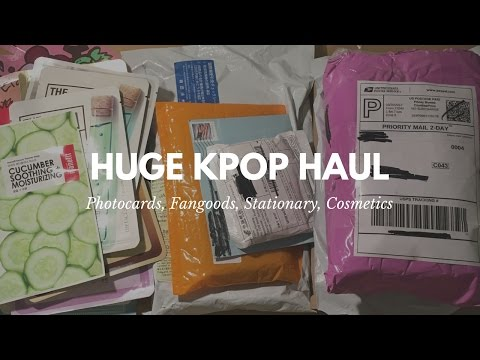 Huge Kpop Haul [Photocards, Fangoods, and More!!]