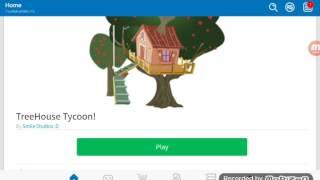 Jugando casa del árbol Tycoon en roblox