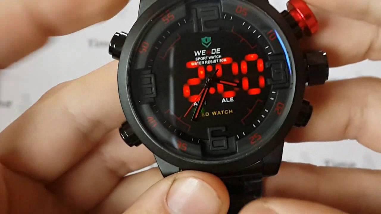 Мужские наручные часы Weide 905 Casual с подсветкой. Интернет .