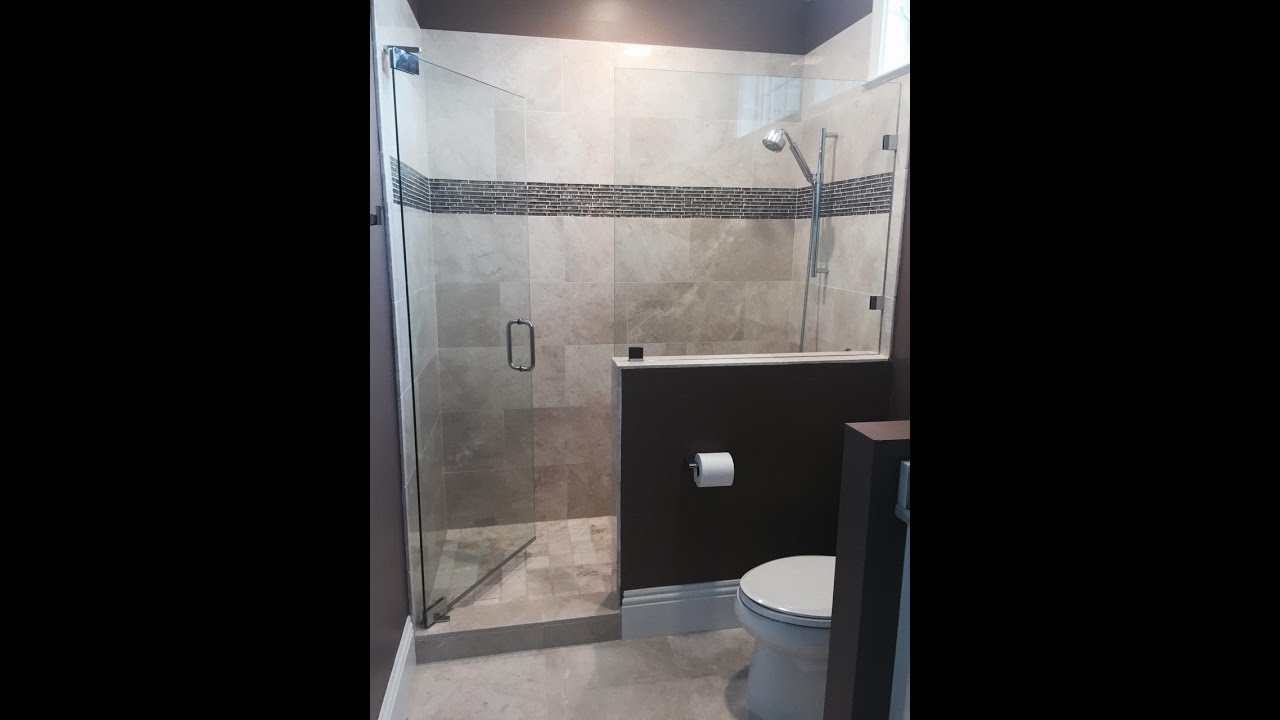 Heavy Glass Wall Mount Pivot Hinge Shower Enclosure - YouTube