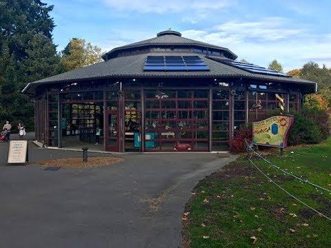 Riding Woodland Park Zoo Carousel in Seattle, Washington