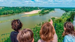 Panorama sur la Loire à Champtoceaux