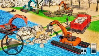 River Bridge Road Construction 2021-Heavy Excavator Simulator-Android 게임 플레이