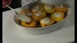 Idaryti Persikai. Stuffed Peaches. Фаршированные персики. Whirlpool Receptas.