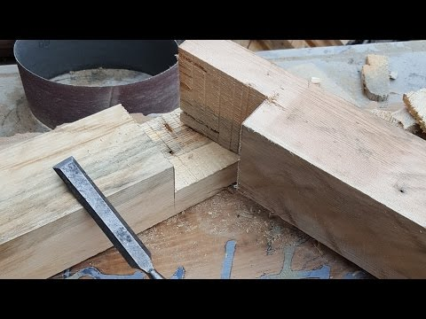 How to make a Half Lap Joint on a Mitre Saw Rage3 Mirror Project