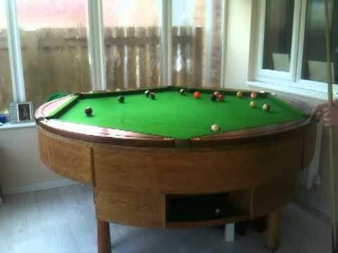 Round Pool Table Rotapool YouTube - Circular pool table