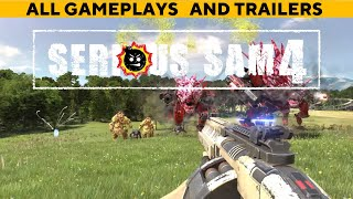 ALL GAMEPLAYS AND TRAILERS SERIOUS SAM 4